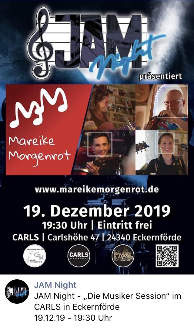 Jam Session im Carls mit Mareike Morgenrot